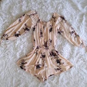Free people floral romper size s/p